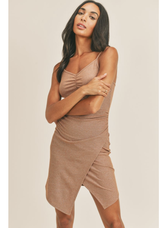 Kaya Ribbed Dress Copper