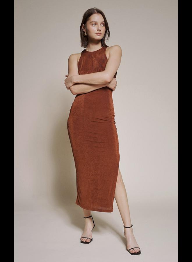 Courtney Midi Dress Pecan