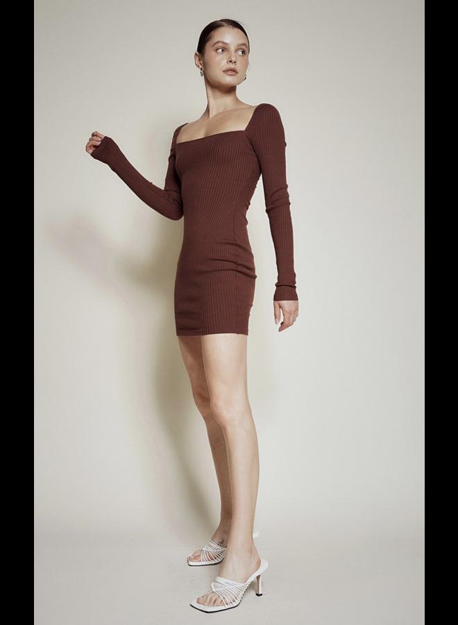 Kamryn Knit Dress Chocolate