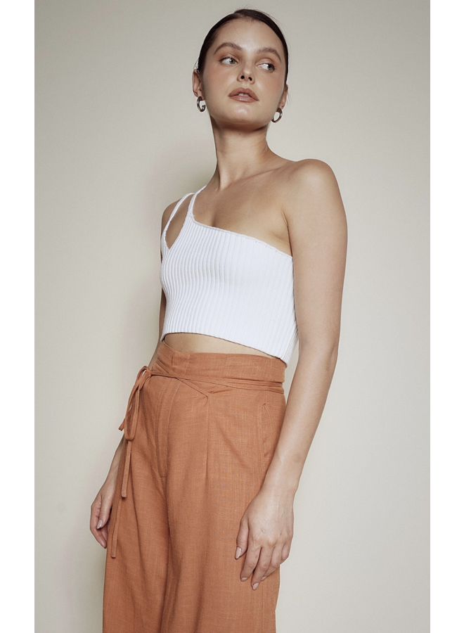 Remi One Shoulder Top Off White