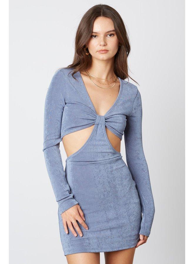 Alexx Cut Out Dress Slate Blue