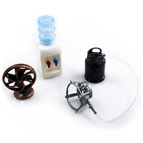 Parts Yeah Racing 1/10 RC Crawler Camping Accessory Combo w/ LPG Cylinder, Gas Burner, Fan, Water Machine