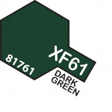 Paint Tamiya Color Mini Acrylic Paint XF-61 Dark Green. (Flat)