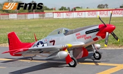 Aircraft Electric P-51D 1700mm Red Miss Kentucky State PNP
