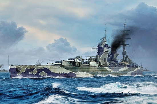 Plastic Kits TRUMPETER (new) 1/700 HMS Rodney Plastic Model Kit