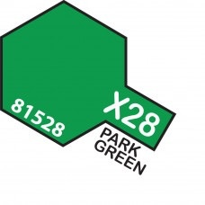 Paint Tamiya Color Mini Acrilic Paint X-28 Park Green. (Gloss)