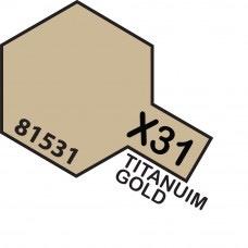 Paint Tamiya Color Mini Acrilic Paint X-31 Titanuim Gold. (Gloss)