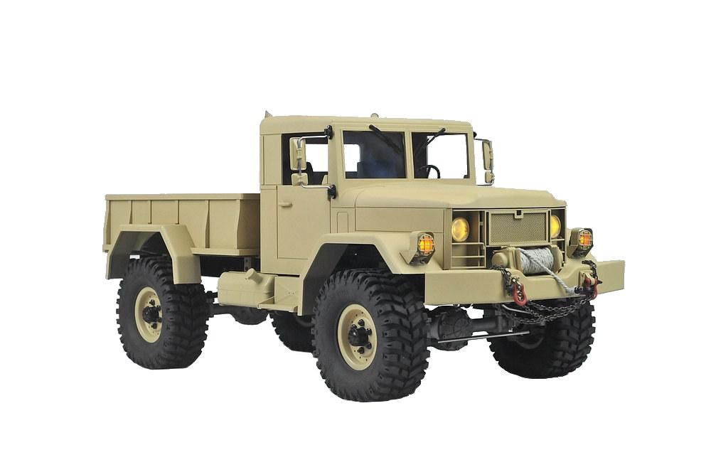 Cars Kit CROSS RC HC4 4x4 Military Truck Kit - requires radio/receiver,esc, battery & charger.