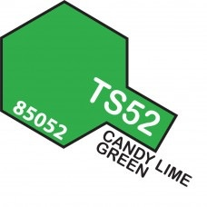 Paint Tamiya Color Spray for Plastics TS-52 Candy Lime Green. 100ml Spray Can