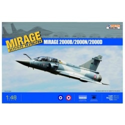 Plastic Kits KINETIC (n) 1/48 Mirage 2000 B/D/N