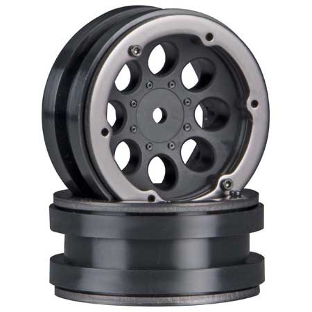 Wheels AXIAL 8-Hole 1.9 Beadlock Wheel Black (2)