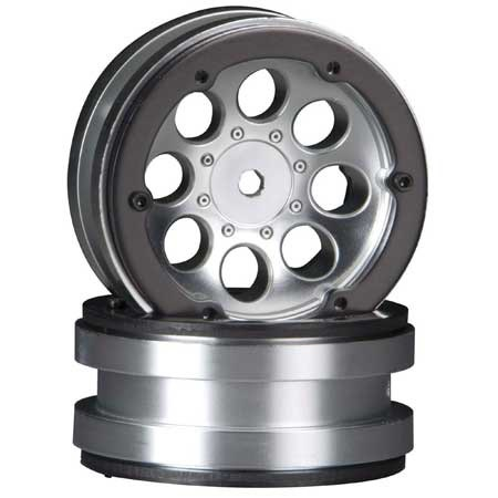 Wheels AXIAL 8-Hole 1.9 Beadlock Wheel Satin Chrome (2)