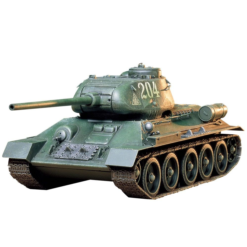 Plastic Kits Tamiya 1/35 Russian Tank T34/85 Scale Plastic Model Kit