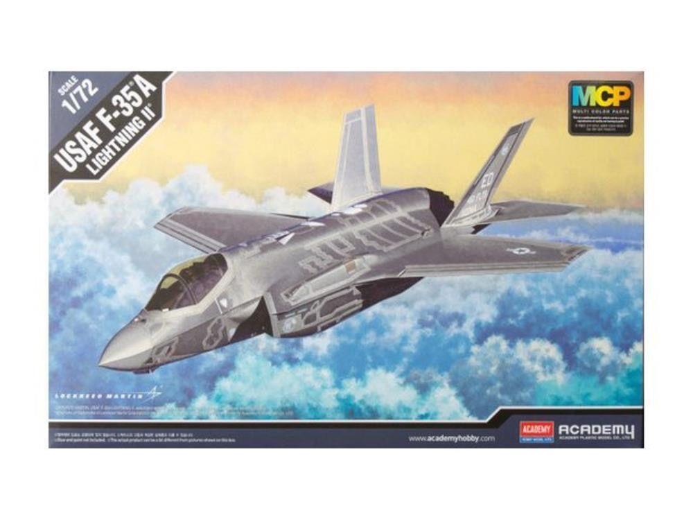 Plastic Kits Academy 1/72 F-35A Lightning II MCP Plastic Model Kit *Aus Decals*