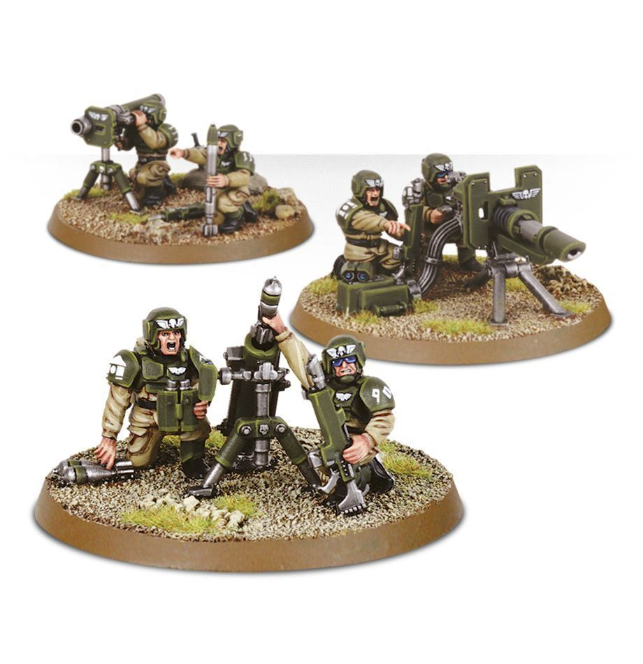 Toys GW Astra Militarum Cadian Heavy Weapon Squad