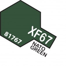 Paint Tamiya Color Mini Acrylic Paint XF-67 Nato Green.