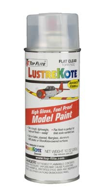 Paint Top Flite LustreKote 10oz Flat Clear Spray