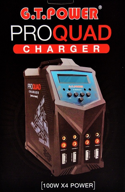 Charger GT-X4 Quattro 4 output charger AC/DC (240/12V)