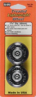 "Wheels Dubro 1.75"""" Treaded Lightweight Wheels"