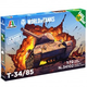 Plastic Kits ITALERI (d) World Of Tanks, Easy Build, T-34/85. 1:72 Scale