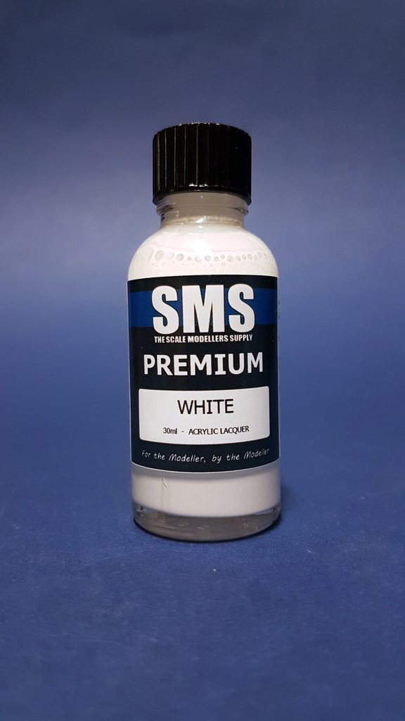 Paint SMS Premium Acrylic Lacquer WHITE 30ml