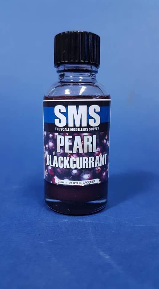 Paint SMS Pearl Acrylic Lacquer BLACKCURRANT 30ml