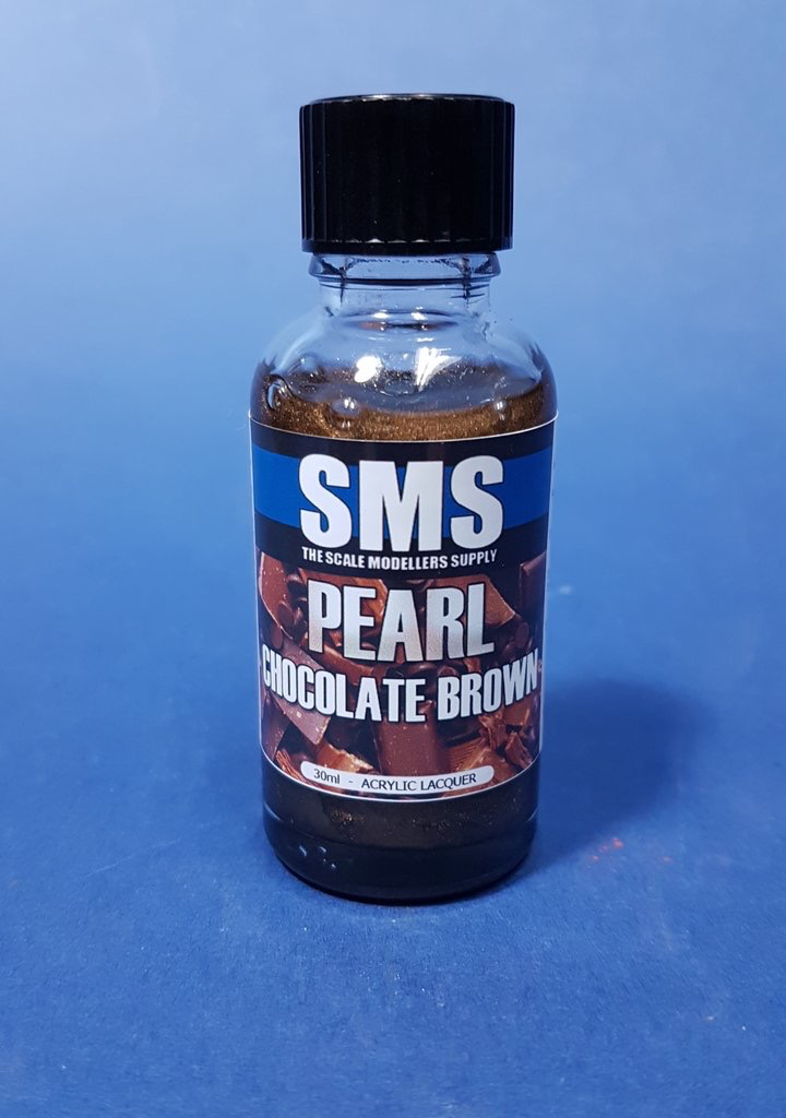 Paint SMS Pearl Acrylic Lacquer CHOCOLATE BROWN 30ml