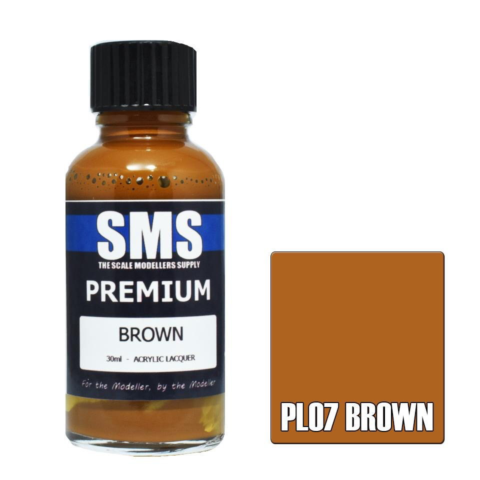 Paint SMS Premium Acrylic Lacquer BROWN 30ml