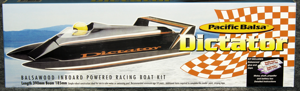 Toys Pacific Balsa Dictator Inboard Boat Kit