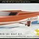 Toys Pacific Balsa Mirage Inboard Ski Boat Kit