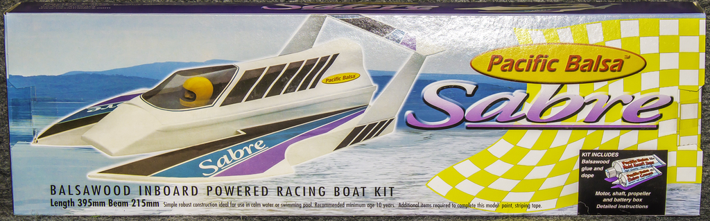 Toys Pacific Balsa Sabre Inboard Boat Kit 395 mm