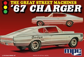 """Plastic Kits MPC 1:25 Scale 1967 Charger """"Great Street Machines"""""""