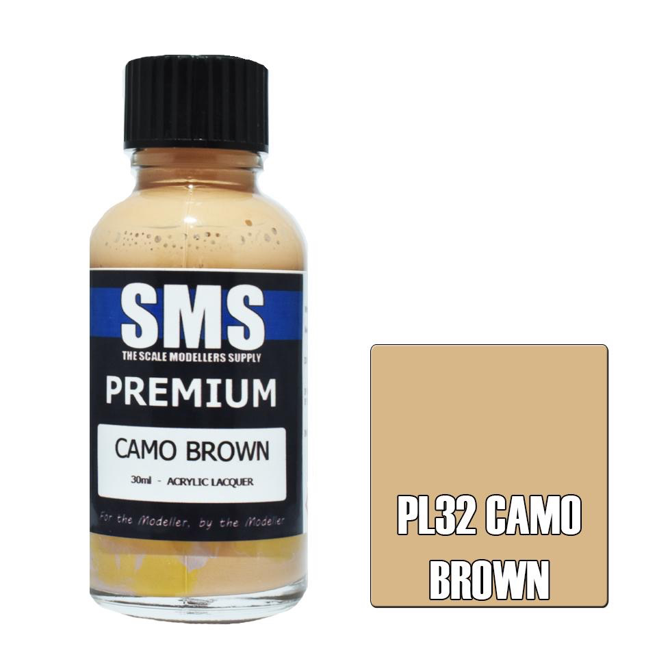 Paint SMS Premium Acrylic Lacquer CAMO BROWN 30ml