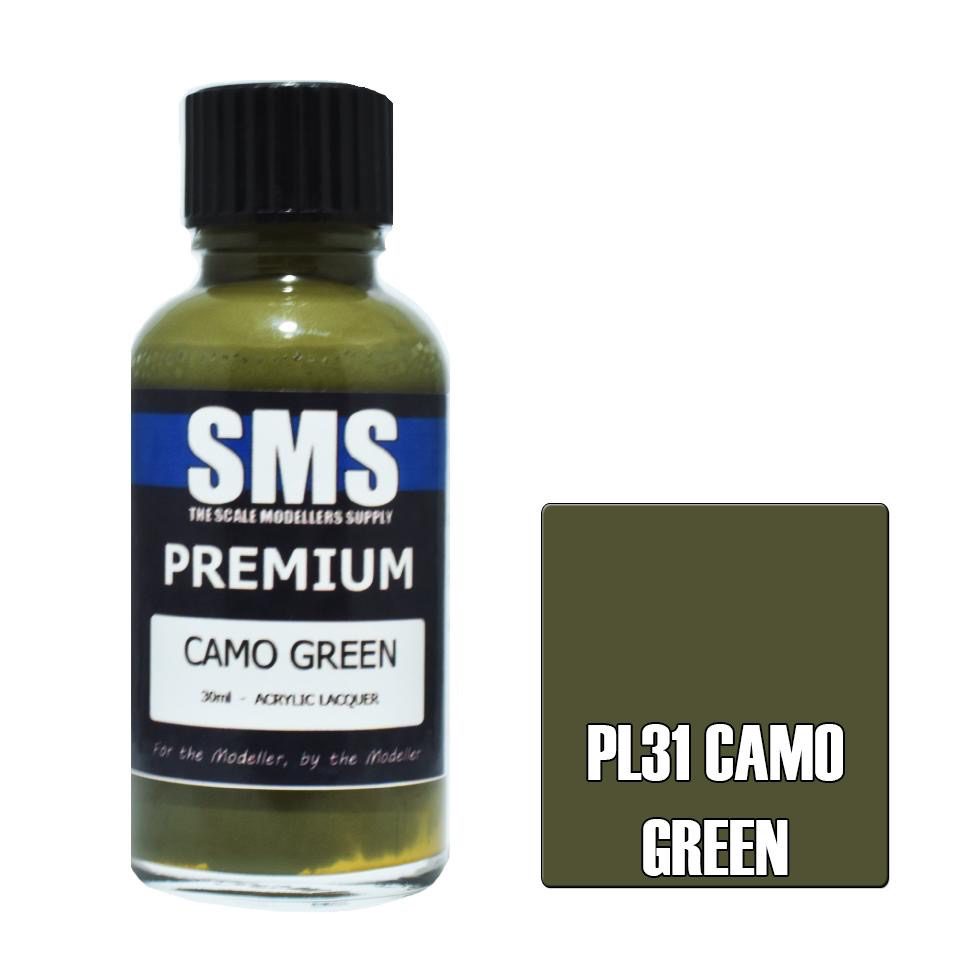 Paint SMS Premium Acrylic Lacquer CAMO GREEN 30ml