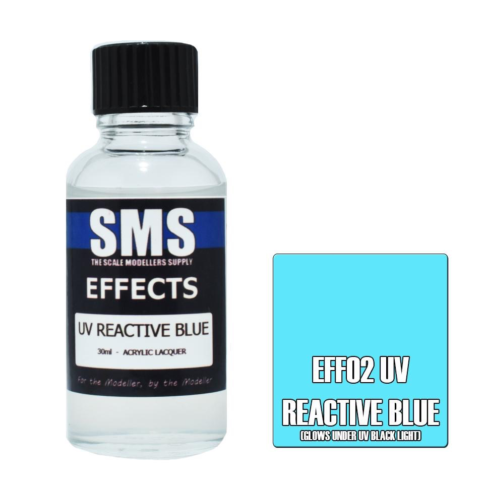 Paint SMS Effects Acrylic Lacquer UV REACTIVE BLUE 30ml