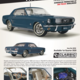 Diecast CLASSIC CARLECTABLES Diecast Pony Mustang Nightmist Blue