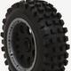 Wheels Vision 1/5 HPI Baja 5T 5-Spoke Wheel + Badlands Tire Set-Front (1 Pair)