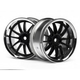 Wheels HPI Work XSA 02C Wheel 26mm Chrome/Black (3mm Offset)