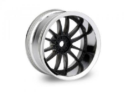 Wheels HPI Work XSA 02C Wheel 26mm Chrome/Black (9mm Offset)