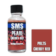 Paint SMS Pearl Acrylic Lacquer CHERRY RED 30ml