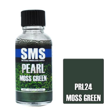 Paint SMS Pearl Acrylic Lacquer MOSS GREEN 30ml