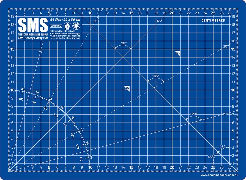 Tools SMS Cutting Mat A4 Blue