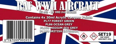 Paint SMS RAF WWII #2 1941+ Colour Set