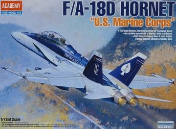 "Plastic Kits ACADEMY  (e)1/72 Scale - F/A 18D Hornet ""US Marines"" *Aus Decal* Plastic Model Kit"