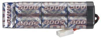 Battery NiMh Intellect 7 Cell Stick Battery 5000mAh Tamiya Plug