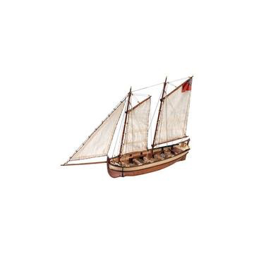 Plastic Kits LARTESANIA  1/50 Scale  HMS Endeavour's Captain Longboat  Wooden Ship Model