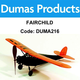 Aircraft DUMAS Fairchild Walnut Scale 17.5 Inch Wingspan Rubber Powered