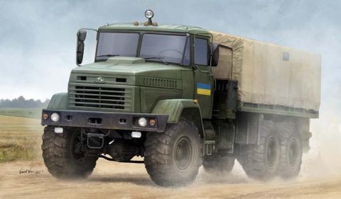 Plastic Kits HOBBYBOSS 1:35 Scale - Ukraine Kraz-6322 Soldier Cargo Truck