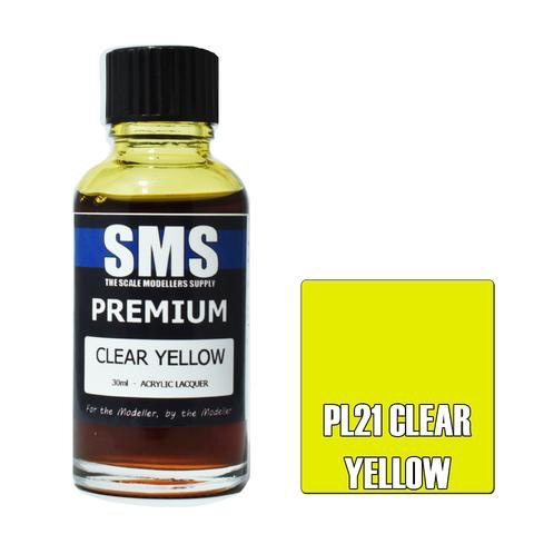 Paint SMS Premium Acrylic Lacquer CLEAR YELLOW 30ml
