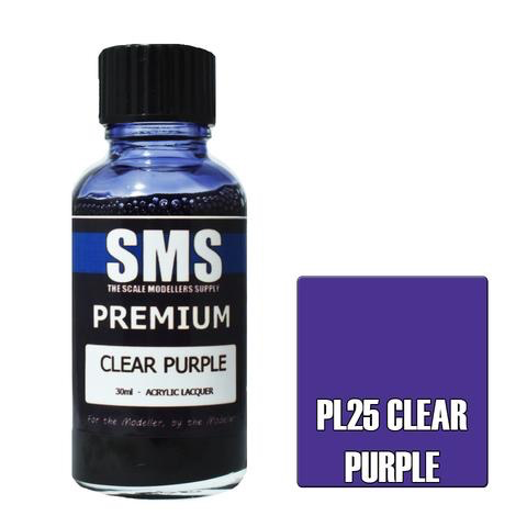 Paint SMS Premium Acrylic Lacquer CLEAR PURPLE 30ml